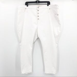 Madewell Curvy High Rise Skinny Crop White Jeans